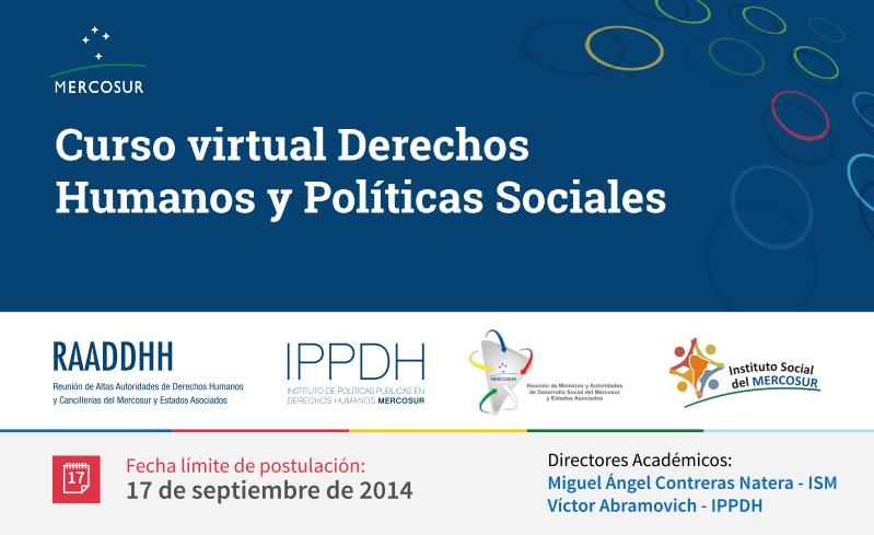 Curso virtual Derechos Humanos y Políticas Sociales