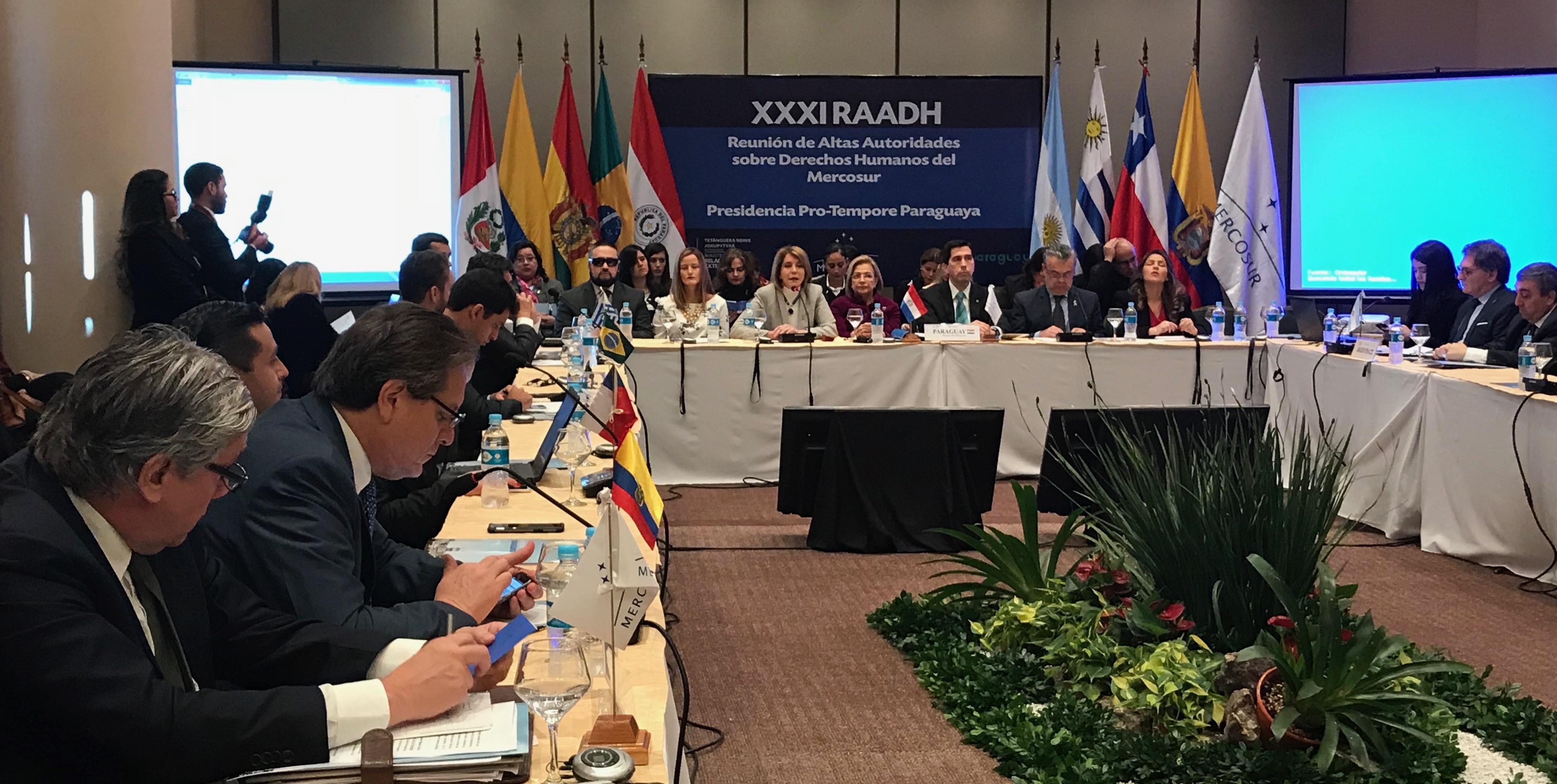 Vicepresidenta de Paraguay cierra plenario de la 31° RAADH en Asunción