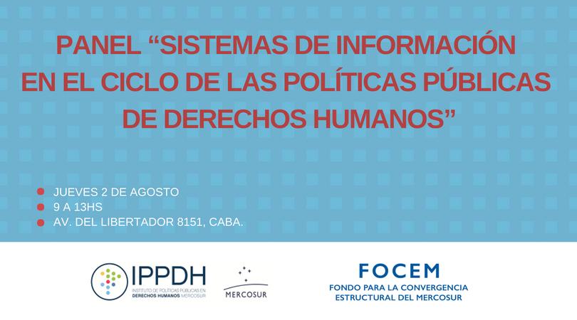 """Panel """"Sistemas de información en el ciclo de las políticas públicas de derechos humanos"""""""