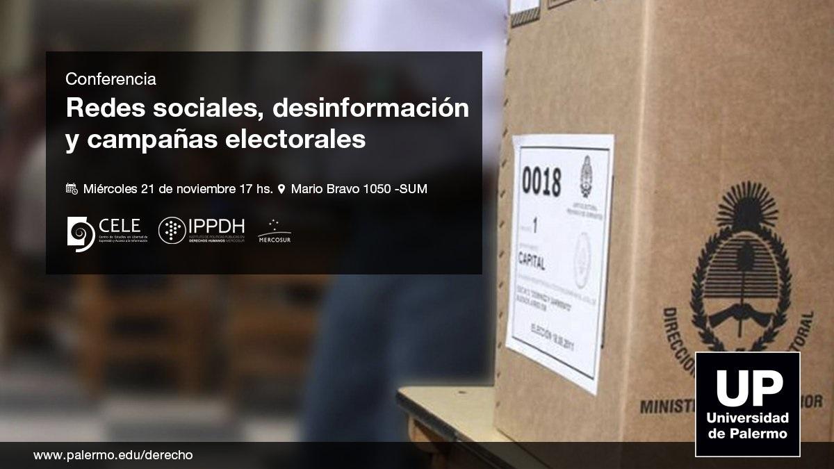 IPPDH participa de la conferencia sobre redes sociales, desinformación y campañas electorales