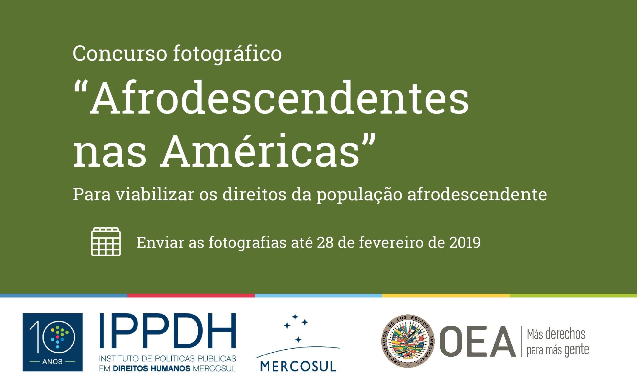 """PRORROGAÇÃO do prazo do Concurso fotográfico """"Afrodescendentes nas Américas"""""""