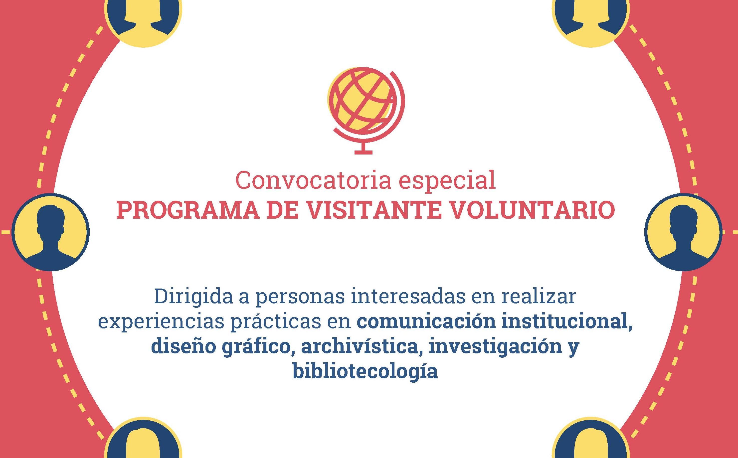 Convocatória especial para o Programa Visitante Voluntário