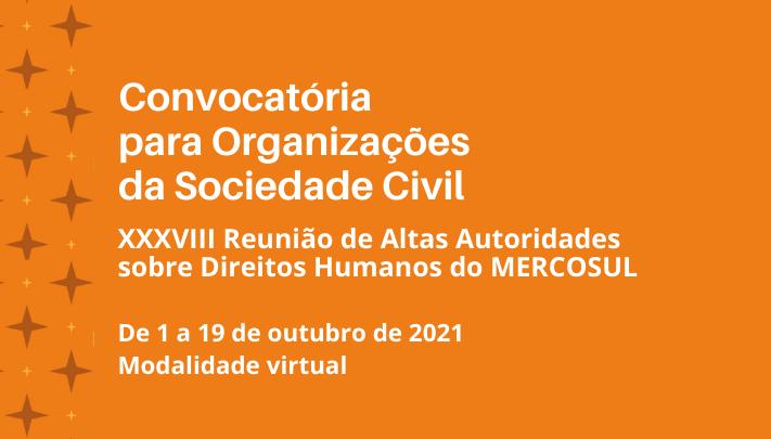 Convocatória para organizações da sociedade civil