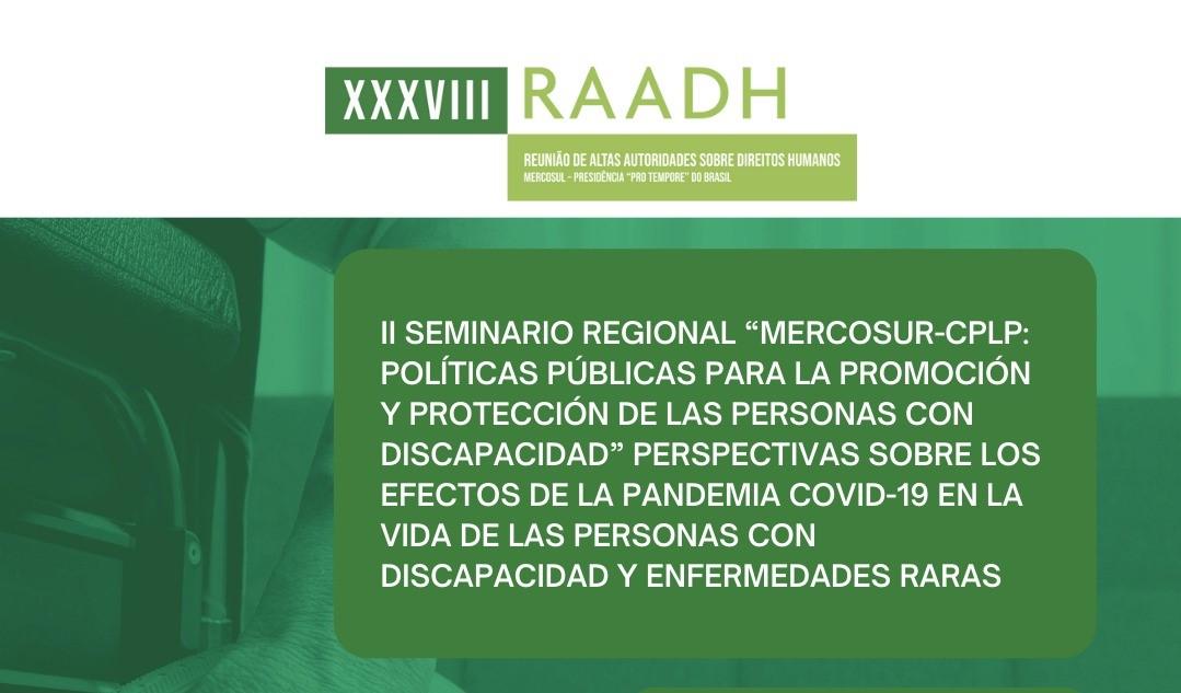Jornada abierta al público en el II Seminario Regional MERCOSUR-CPLP: Políticas Públicas para la Promoción y Protección de las Personas con Discapacidad